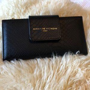 Adrienne Vittadini Black snakeskin embossed wallet